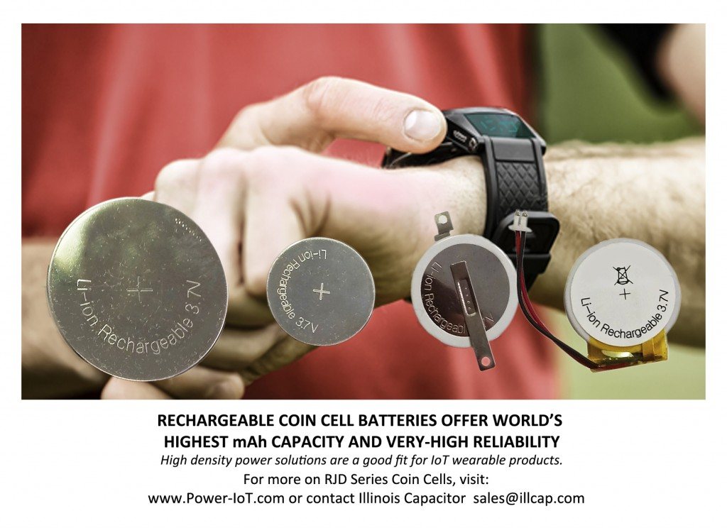 IllinoisCapacitor.com RJD Series Rechargeable Coin Cell Batterie