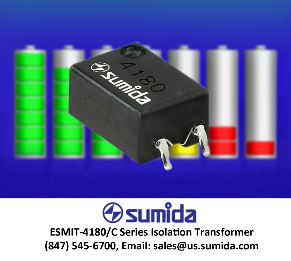 ESMIT-4180C provides isolation in battery monitors